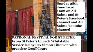 St Peter's Patronal Festival with preacher Geoff Court