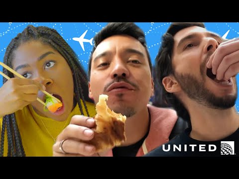Airport Layover Food Challenge // Presented by BuzzFeed & United Airlines