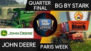 John Deere vs BG powered by Stark FSL Farming Simulator League Paris Games Week 2019