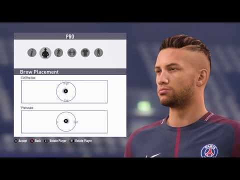 FIFA18 Pro Clubs Game Face Neymar Look Alike