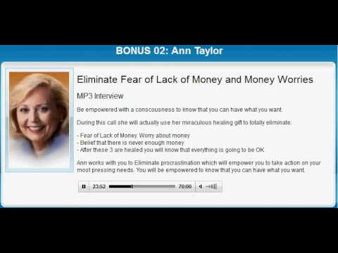 Ann Taylor Healing Treatment | ELIMINATE MONEY ISSUES by Ann