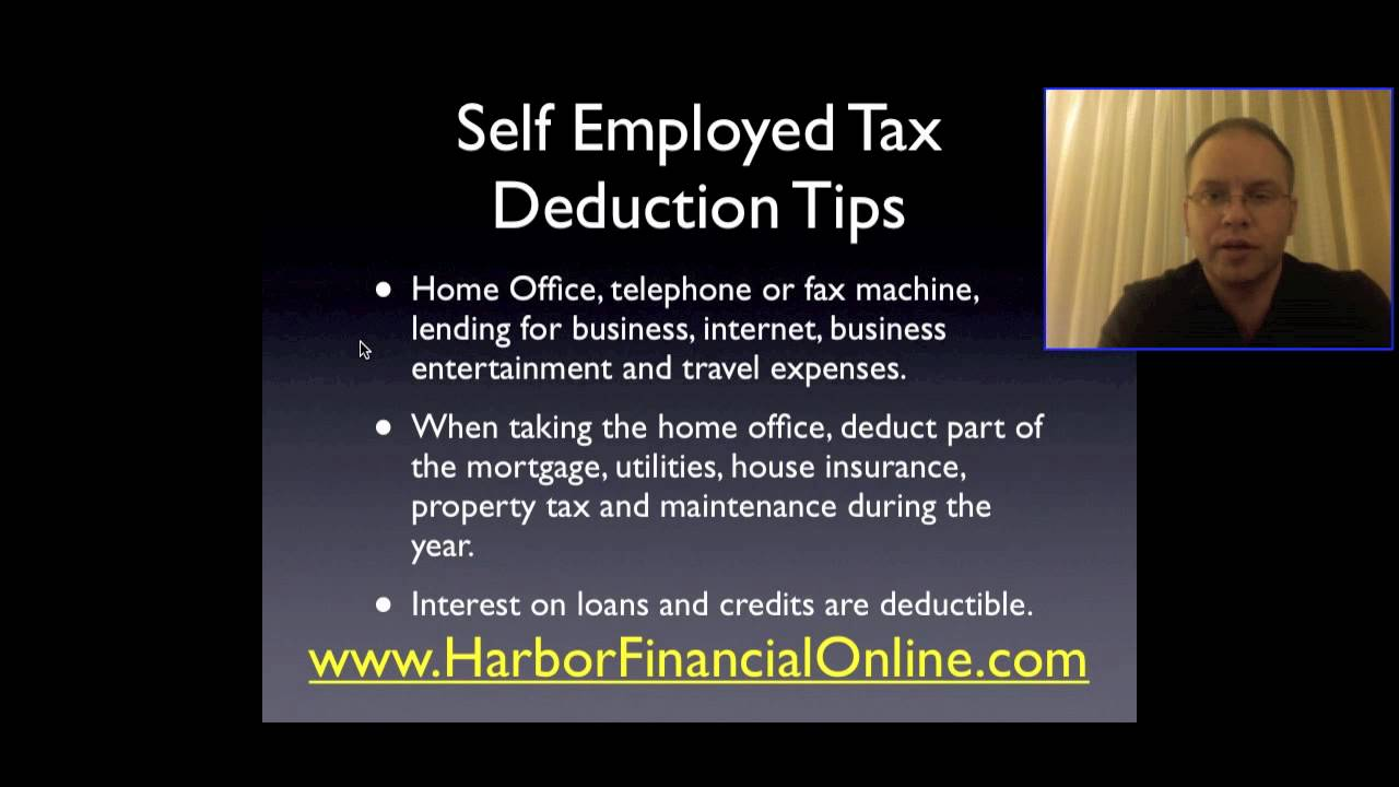Self Employed Online Tax Deduction Tips for 2009, 2010 - YouTube