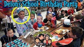 Deion has a birthday party at school with his classmates. Deion tur...