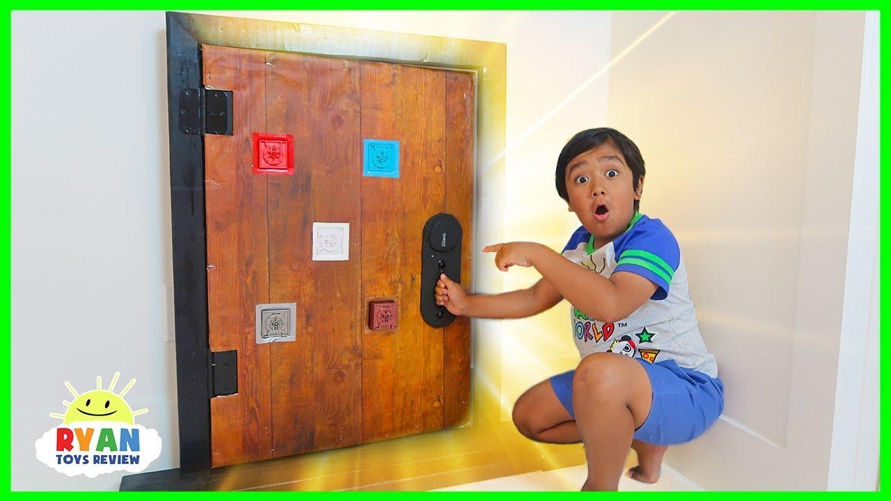 Ryan finds a secret door in his room!!!!