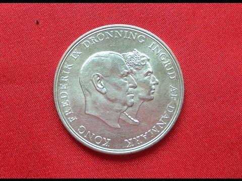 DENMARK 5 SILVER KRONER 1960 (UNC) - Frederik IX Silver Wedding Anniversary
