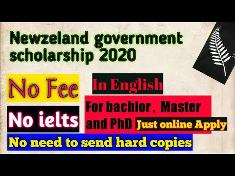 NewZealand Government Scholarship for international students 2020    In English