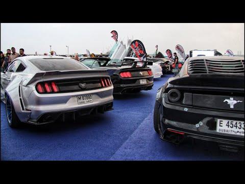 MUSTANGS INVADE A SUPERCAR MEET!!! |Dubai Gulf Car Festival|