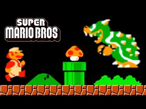 Super Mario Bros NES Walkthrough (No Damage, All Secrets)