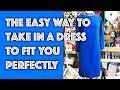 How to Take in a Dress | Sew Anastasia