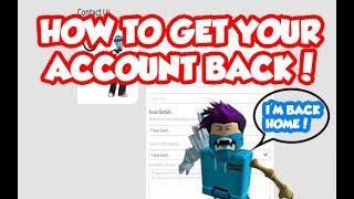 HOW TO GET YOUR ACCOUNT BACK ON ROBLOX!