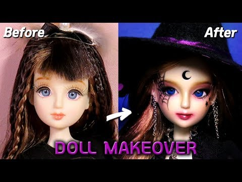 [Doll Repaint] 할로윈 특집🎃 �형� 마녀로 꾸며봤어요! - 30cm 관절�형 리틀마루코 프린세스 리페�팅 Halloween Witch /딩가� 회전목마 (DINGA)