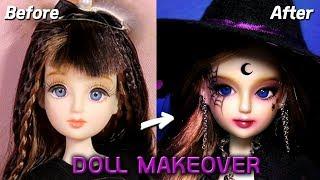 [Doll Repaint] 할로윈 특집🎃 인형을 마녀로 꾸며봤어요! - 30cm 관절인형 리틀마루코 프린세스 리페인팅 Halloween Witch /딩가의 회전목마 (DINGA)