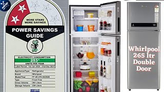 Whirlpool 265 L 2 Star Frost-Free Double Door Refrigerator Review Best budget fridge small family