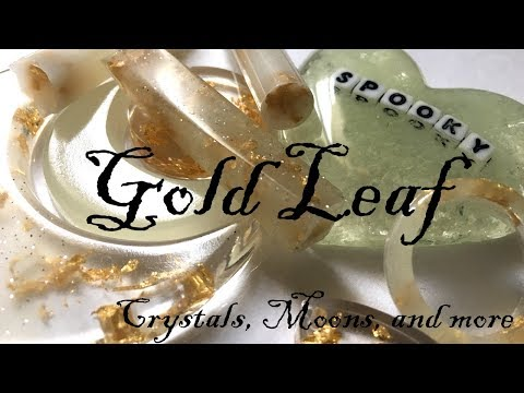 WATCH ME RESIN- Glow in the Dark + Gold Leaf Crystals, Moons and More