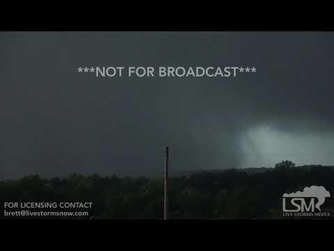 05-28-19 Lawrence, KS - Rain Wrapped Wedge Tornado