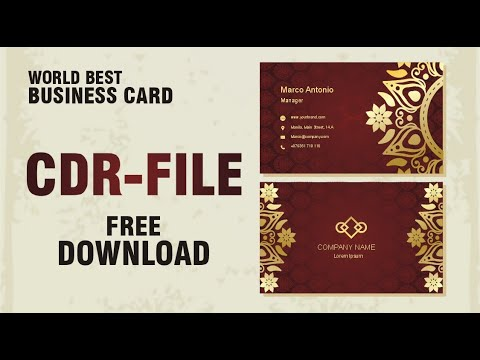 Business Card Design CDR File Tutorial | World Best Visiting Card thumbnail