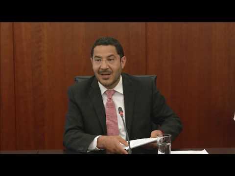 Conferencia del presidente de la Mesa Directiva del Senado, Martí Batres