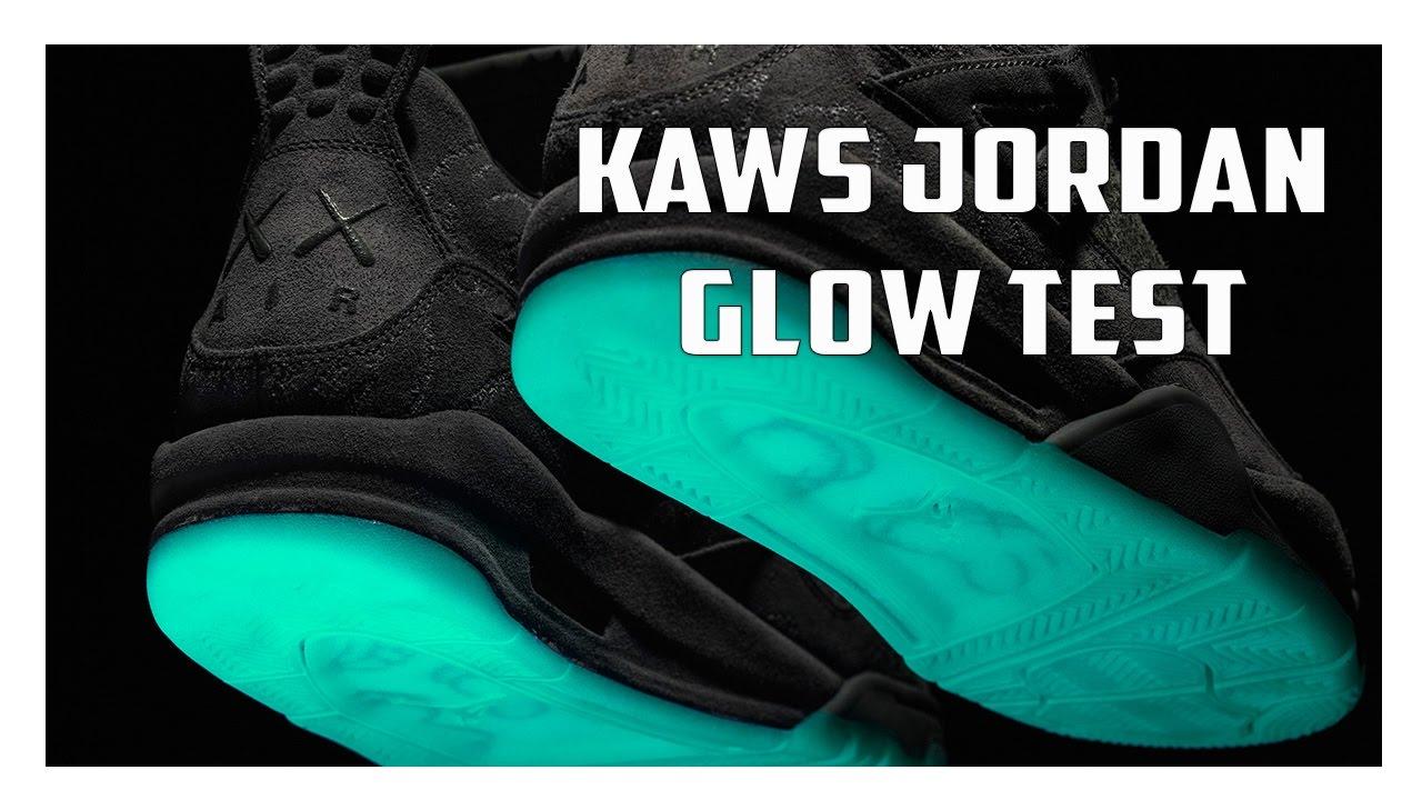 Kaws Jordan 4 Unboxing + Glow Test! - YouTube 3a6401b91