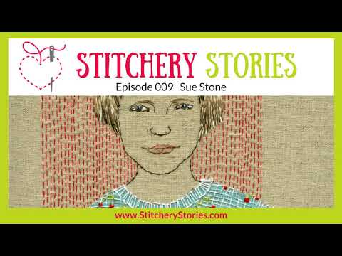 Sue Stone: Textile Artist, Woman With A Fish & Current 62 Gr