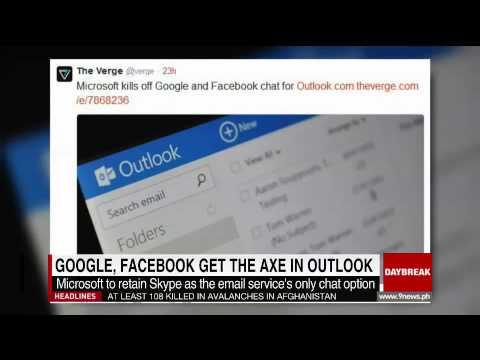 Google, Facebook Get The Axe In Outlook