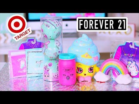 Cute Target & Forever 21 Haul - Room & Desk Decors & Cute Makeup & lol surprise toys