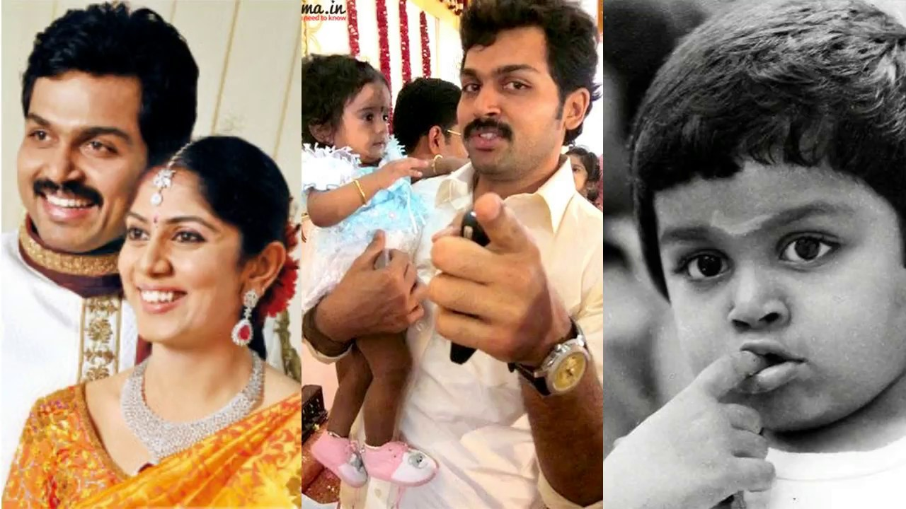 Actor Karthi Sivakumar Family Photos Wife Ranjini Daughter Umayaal