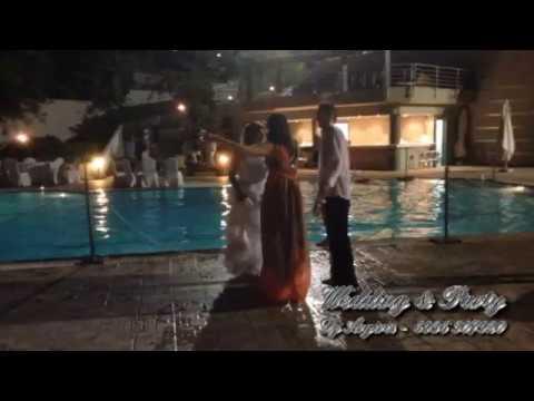 Bride & Bridegroom & Groom & guests come to the pool | July 2014 | DJ Argiris Basianas