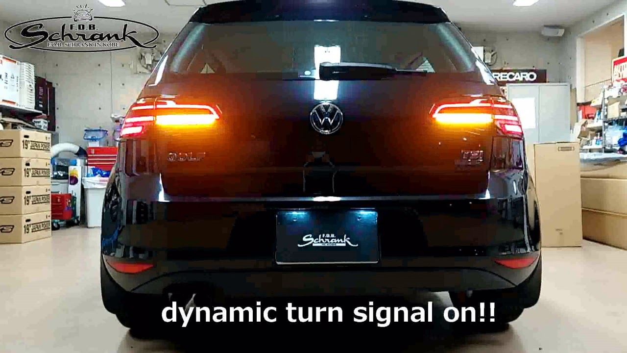 Cars Schrank Golf Mk7 Highline X Mk7 5 Led Tail Light Dynamic Turn Signal On