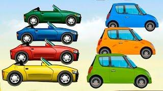 Мультики про машинки - Красим машинки и Учим цвета! Развивающие мультфильмы для детей 2017