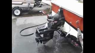 Mercruiser 140 Hp Motor running in boat after motor and drive repairs 5-15-14