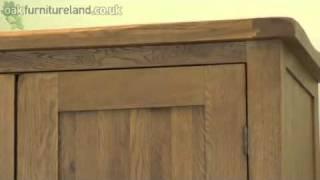 Rustic Oak Wardrobe From Oak Furniture Land