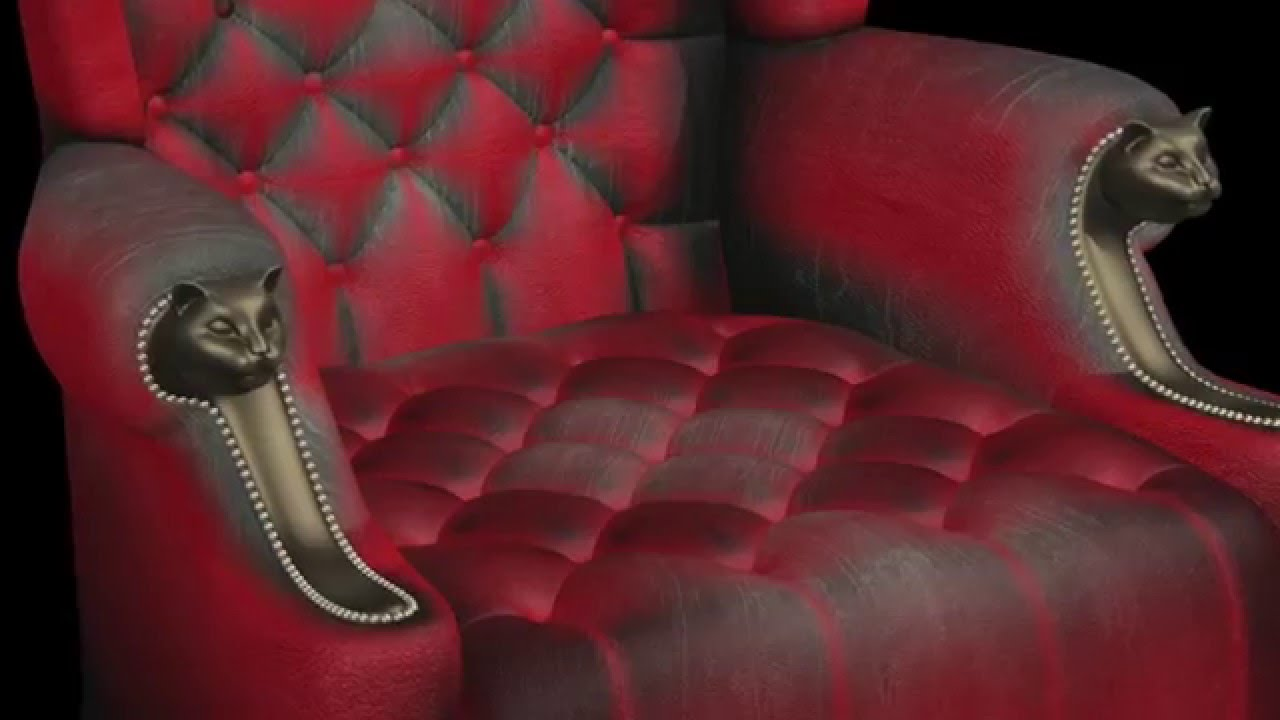 Wingback Baroque Royal Style Chair Blender 3D Part 1 Of 2