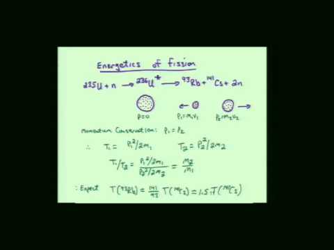 Lecture 33  Nuclear Fission, Nuclear Reactors