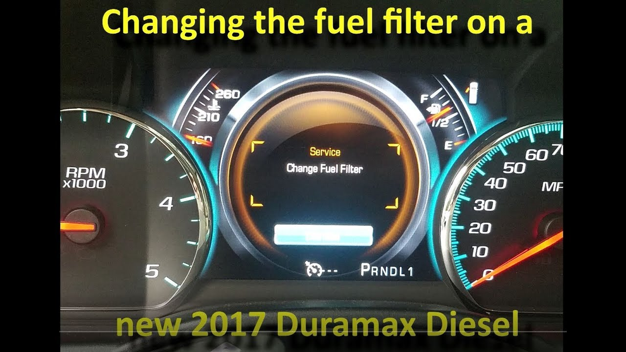 changing the fuel filter on a new 2017 duramax diesel gmc