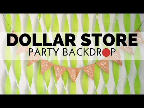 how to make a backdrop for a party