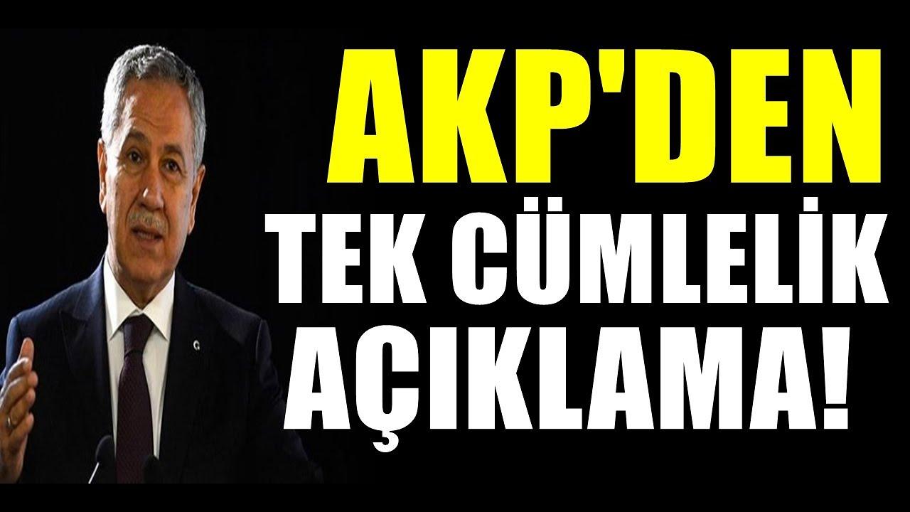 Bülent Arınç'ın istifası sonrası AKP'den tüm cümlelik açıklama var..