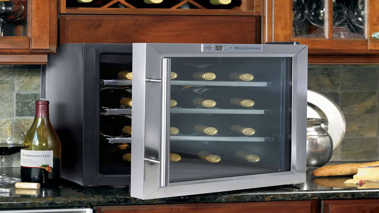 Emerson Fr24sl 8 Bottles Wine Cooler With Thermal Glass Door