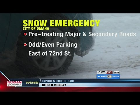Snow emergency issued in Omaha ahead of winter storm
