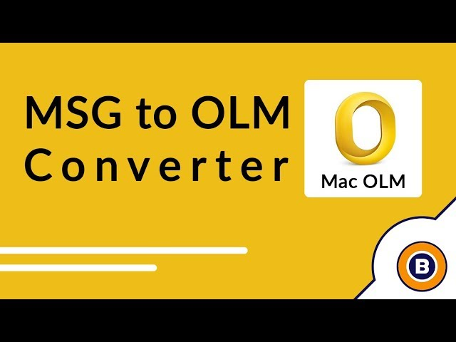 Convert  MSG to  OLM Format to Import MSG to Outlook Mac