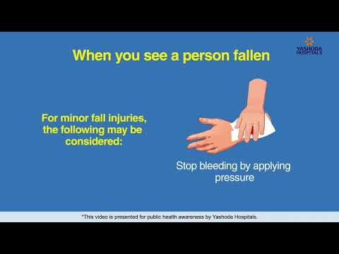 Fall injuries First aid and emergency tips | How to do first aid for injuries