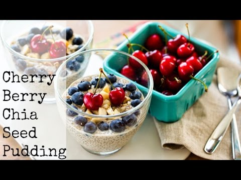 Cherry Berry Chia Seed Pudding, Lunchboxbunch.com