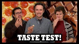 味覚テスト!! Pizza and Bleu Cheese Chocolates!! - Food Feeder