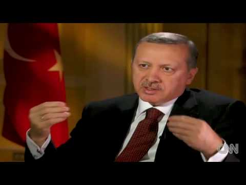 Turkish Prime Minister: Recep Tayyip Erdogan Denying the Armenian Genocide on CNN 13-04-2010