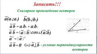 Урок 7_1. Векторы. Скалярное произведение векторов.