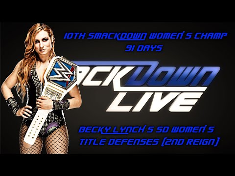 All Becky Lynch's Smackdown Women's Title Defenses (2ND REIGN)