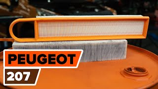 Montage Luchtfilter PEUGEOT 207 (WA_, WC_): gratis video