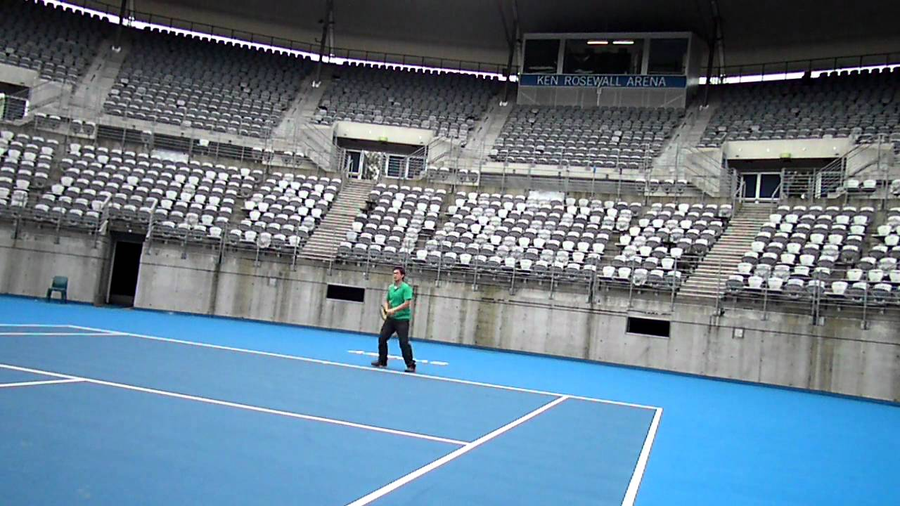 Sydney Olympic Park Tennis Centre Ken Rosewall Arena Hitting