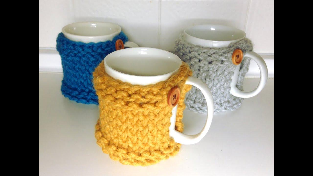 How to Loom Knit a Mug Coaster Cozy (DIY Tutorial) - YouTube