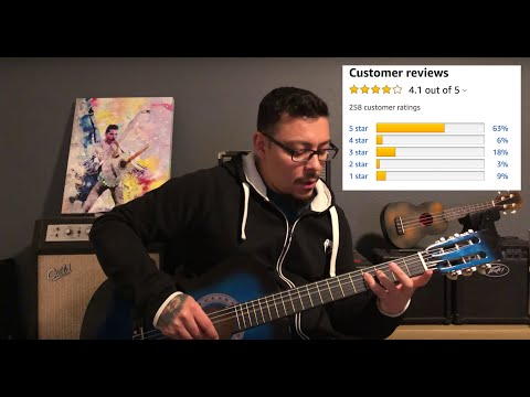 $40 Amazon Best Choice 38' Guitar Unboxing & Review