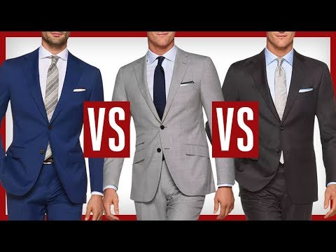 Blue Vs Gray Suits Which Suit Is Better Charcoal Black Navy